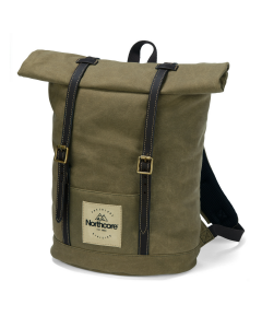 Waxed Canvas Backpack - Khaki