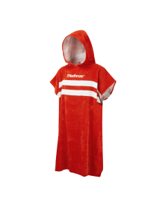 """Beach Basha"" Changing Robe - Red Stripes"