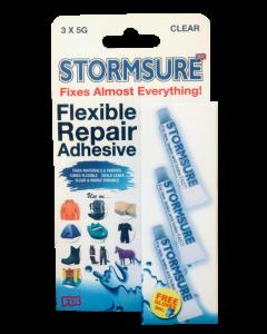 Stormsure - Flexible repair adhesive 3 x 5g Tubes