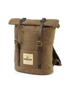 Waxed Canvas Back Pack - Chocolate