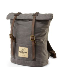 Waxed Canvas Back Pack - Stone