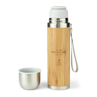 Northcore Bamboo Stainless Steel Thermos Flask 360ml with Mug